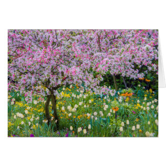 Springtime in Claude Monet's garden Card