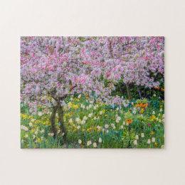 Springtime in Claude Monet's garden Jigsaw Puzzle