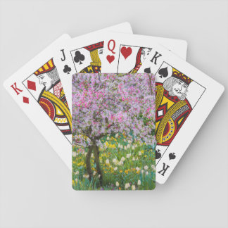 Springtime in Claude Monet's garden Playing Cards