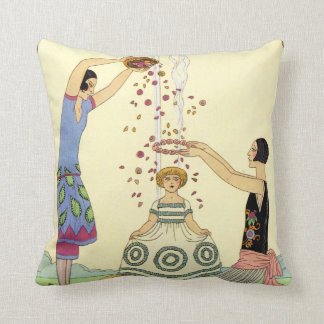 Springtime in France Art Deco Cushion