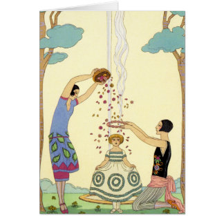 Springtime in France Art Deco Greeting Card