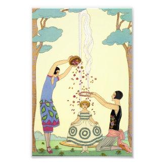 Springtime in France Art Deco Photo Print