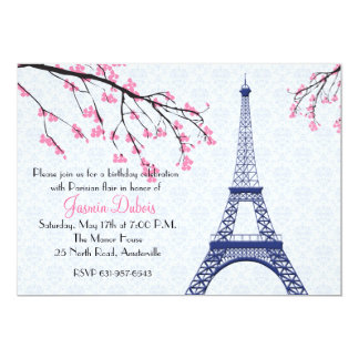 Springtime in Paris Invitation
