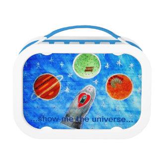 ...Springtime In Space...art by Jutta Gabriel... Lunch Box