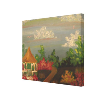 Springtime In The Garden Stretched Canvas Print