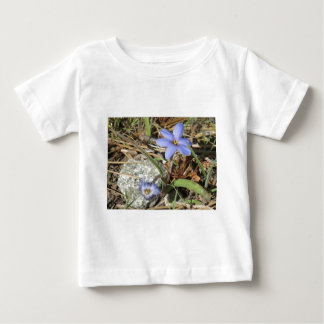 Springtime in the Mountains Purple Iris Flowers Baby T-Shirt
