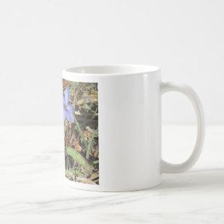 Springtime in the Mountains Purple Iris Flowers Basic White Mug