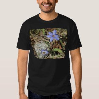 Springtime in the Mountains Purple Iris Flowers Tee Shirt