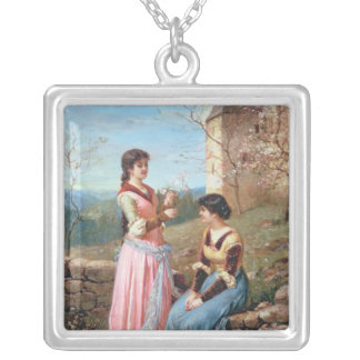 Springtime in Tuscany Personalized Necklace