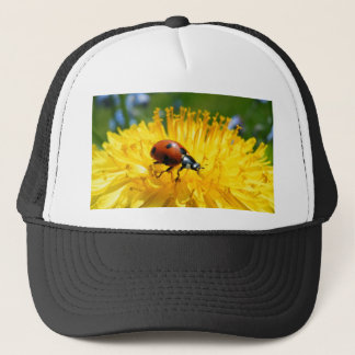 Springtime Ladybird on Dandelion Trucker Hat