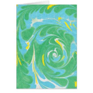 Springtime marbled blank card