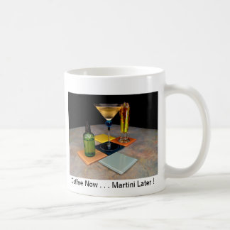 Springtime Martini - Coffee Now . . Martini Later Basic White Mug