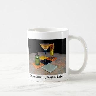 Springtime Martini - Coffee Now . . Martini Later Basic White Mug
