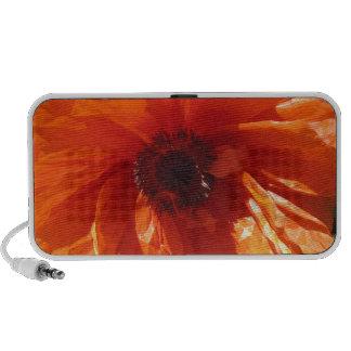 Springtime Orange Poppy Portable Speakers