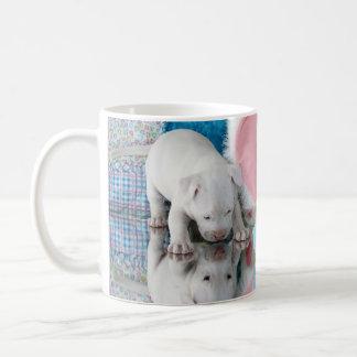 Springtime Puppy Love Basic White Mug