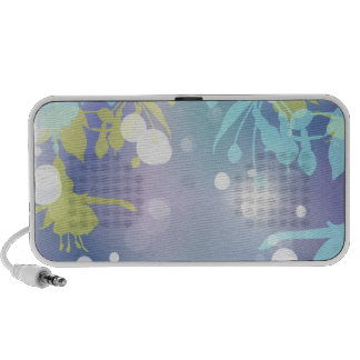 Springtime Purple Floral Abstract Mp3 Speakers