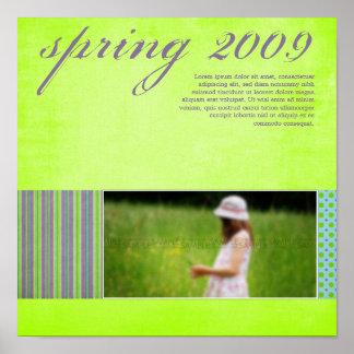 """Springtime"" Scrapbook Page Poster"