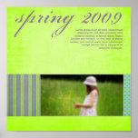 """Springtime"" Scrapbook Page Print"