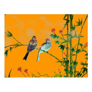 Springtime Sparrows Post Card
