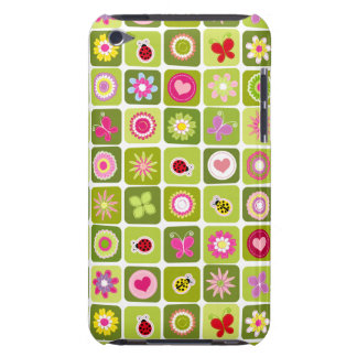 Springtime tiles iPod touch cases