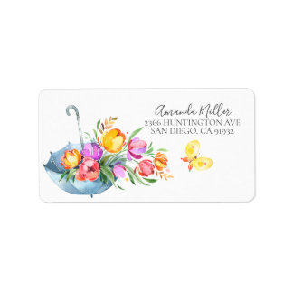 Springtime tulips Return Address Label