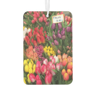 Springtime Tulips Tulip Flower NYC New York City Car Air Freshener