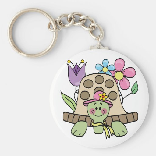 Springtime Turtle Tshirts and Gifts Keychains