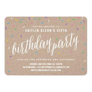 Sprinkle Birthday Party Invitations