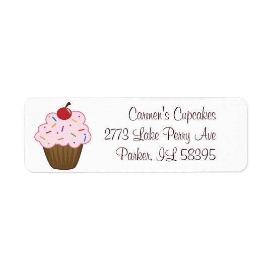 Sprinkle Cupcake Return Address Label