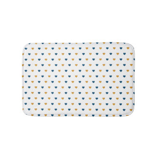 Sprinkle Hearts (Navy/Gold) Bath Mat