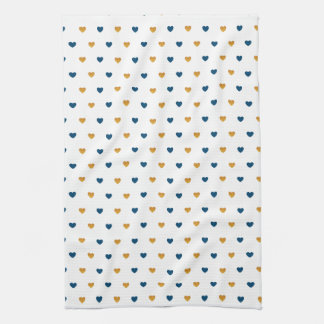 Sprinkle Hearts (Navy/Gold) Tea Towel