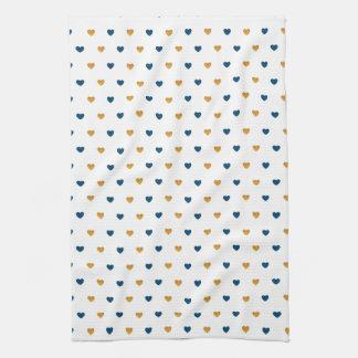 Sprinkle Hearts (Navy/Gold) Towel