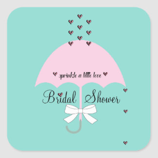 Sprinkle Love Blue And Pink Shower Party Stickers