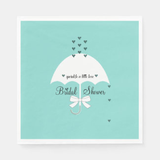 Sprinkle Love Tiffany Teal Blue Party Napkins Disposable Napkin