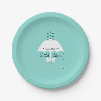 Sprinkle Love Tiffany Teal Blue Party Paper Plates