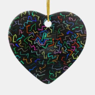 Sprinkle Marks Ceramic Heart Decoration