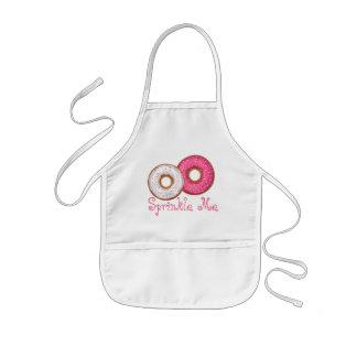 Sprinkle Me Pink & White Doughnut Kid's Apron