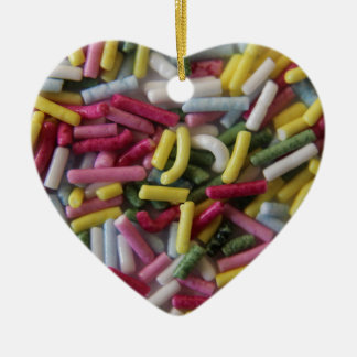 sprinkle of sweets ceramic heart decoration