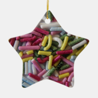 sprinkle of sweets ceramic star decoration