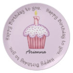 Sprinkled Birthday Cupcake Cake Plate