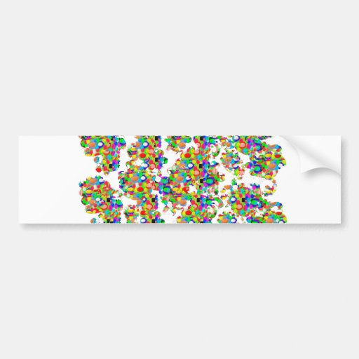 SPRINKLED Jewel Decorations SIGNATURE art by NAVIN Bumper Stickers