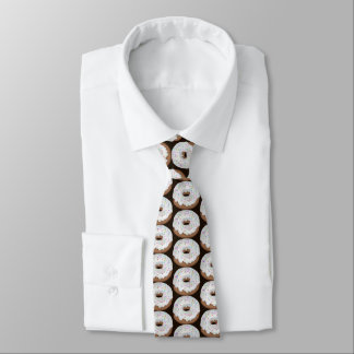 Sprinkled vanilla iced donut tiled shop tie