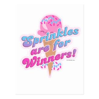 Sprinkles are for Winners Postcard