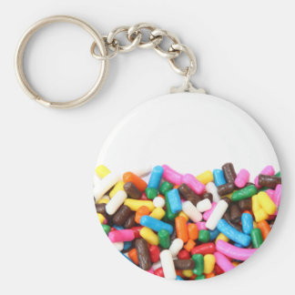 Sprinkles Filled Keychain