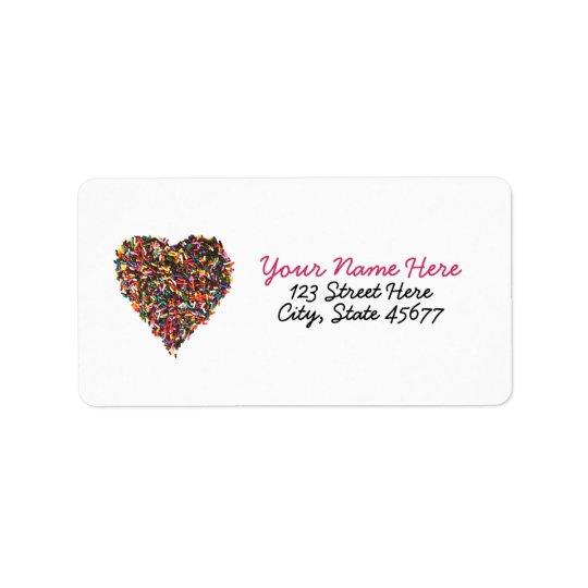 Sprinkles Heart Address Labels