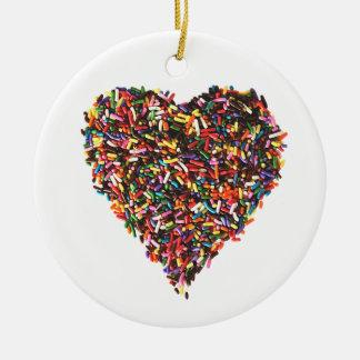 Sprinkles Heart Ornament