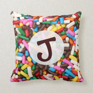 Sprinkles Monogrammed Pillow
