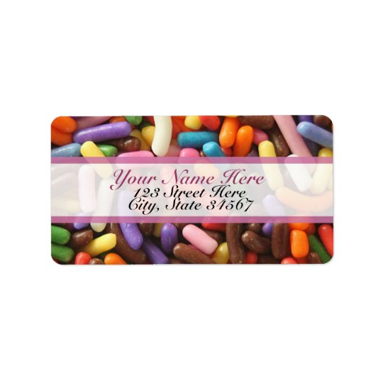 Sprinkles Rainbow Address Labels