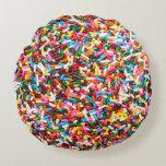 Sprinkles Round Pillow