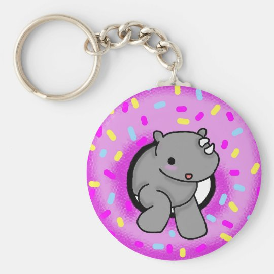 Sprinkles the Rhino Key Ring